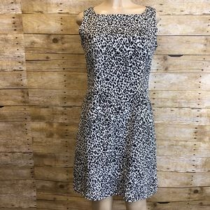 PAPELL BOUTIQUE | 100% Silk Leopard Dress 10P